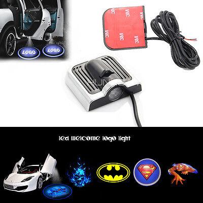 2x 3D LED Car Door Welcome Logo Laser Projector Emblem Shadow Light Puddle New