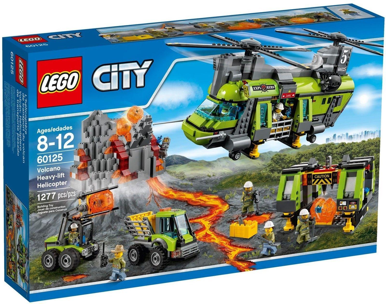 LEGO 60125 CITY HÉLICOPTÈRE PAR CARGO LOURDE VOLCANIQUE NEUF NEW RARE