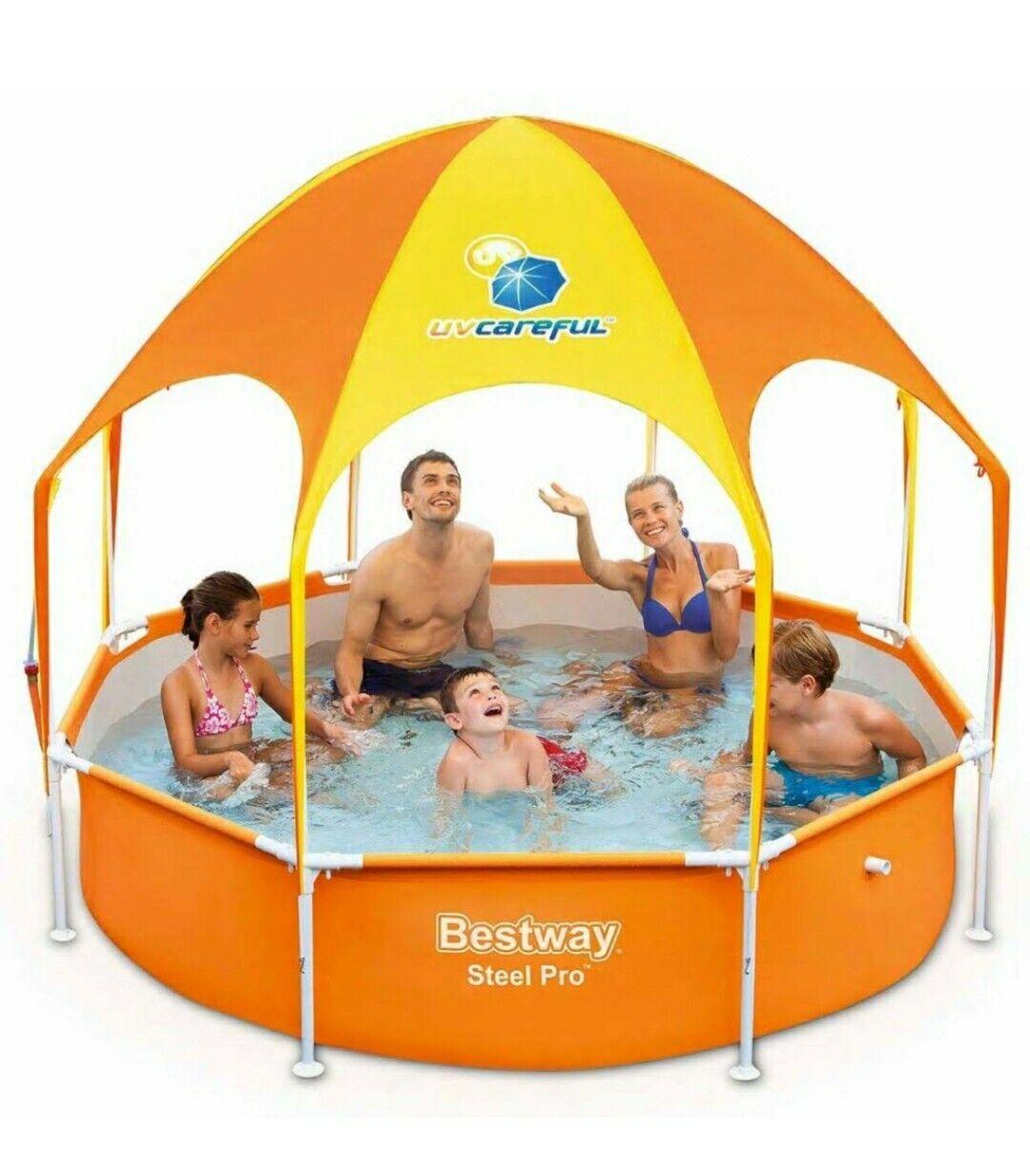 Bestway Splash in Shade Play Pool BLACK FIBERGLASS POLE 8Ft Part 56432 P61080