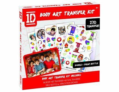 1d One Direction Body Art Trasferimento Kit, Tatuaggio 270 Trasferibili - Nuovo Ufficiale 2019