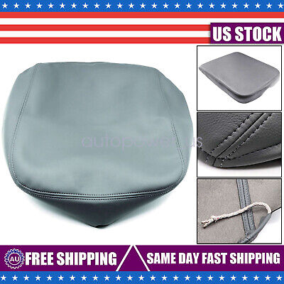 CITALL Gray Console Armrest Pad Skin Lid PU Leather Cover fit for Dodge Ram 2002-2008