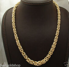 "18"" Technibond Graduated Byzantine Chain Necklace 14K Yellow Gold Clad Silver"