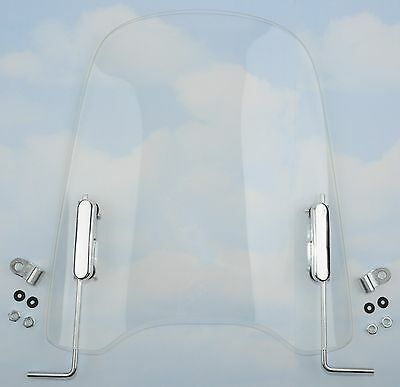 """Scooter Moped Windshield including a Mirror Mount Kit 18"""" .150"""" thickness"""
