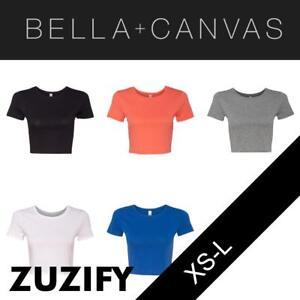 Bella-Canvas-Ladies-Junior-Fit-Crop-Top-T-Shirt-6681