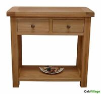 Esher Oak Console Table / Oak Hall Table / Rustic Solid Wood Telephone Table