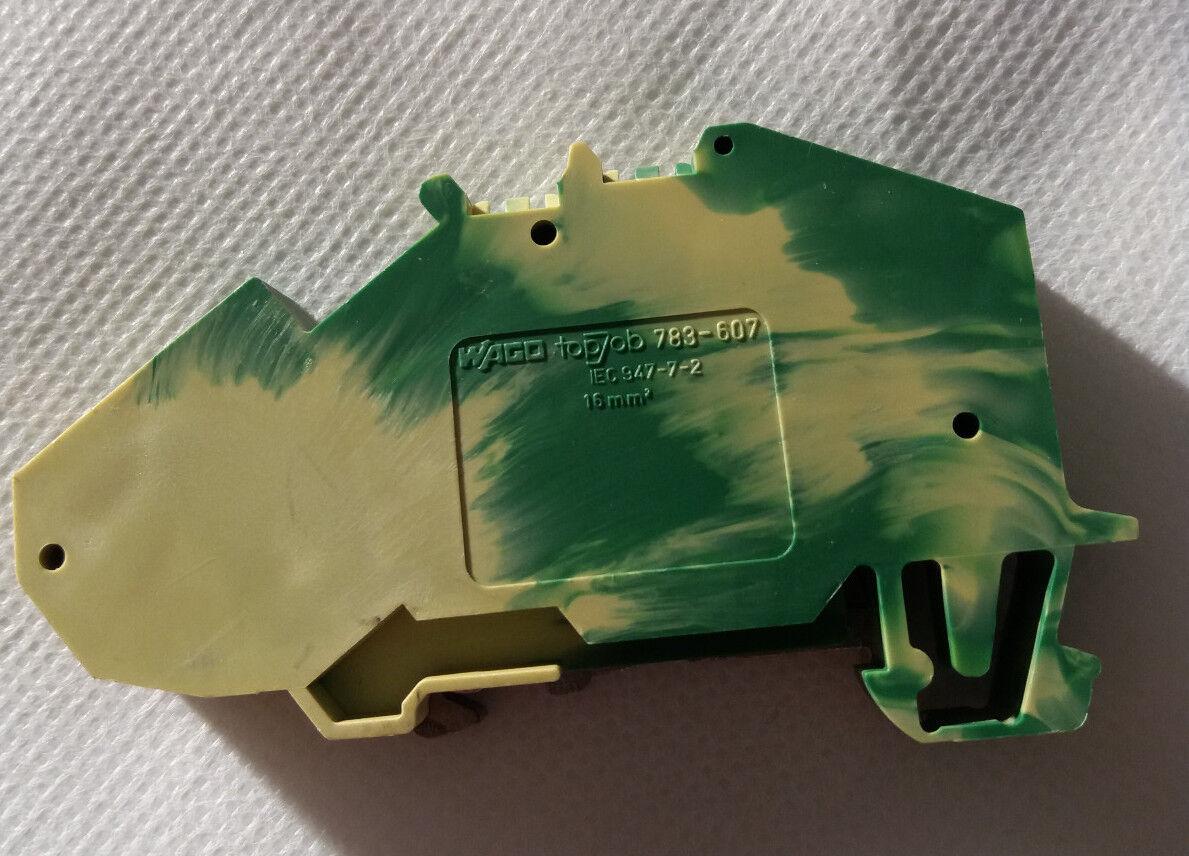 20 x Wago 783-607 2-Leiter-Schutzleiterklemme 16 mm² grün-gelb
