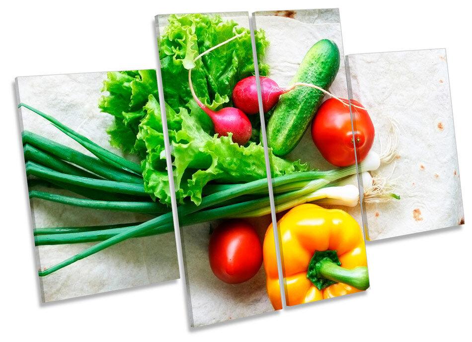 Fresh Fresh Fresh Kitchen Vegetables  CANVAS WALL ART MULTI Panel Print Picture d19b1a