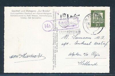 1962 Landpost Ra2 14b Aach über Freudenstadt Ak Gasthof Metzgerei.. Effizient 27480