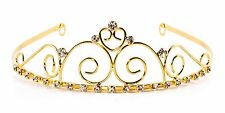 Elegant Royal Swirl Crown Tiara Halloween Costume Bridal Party DressUp – Gold