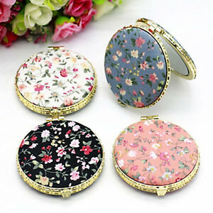 1Pc-Mini-Round-Pocket-Folding-Makeup-Mirror-Vintage-Double-Sides-Floral-Gift