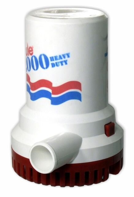 12 Rule 2000 Gph Non Automatic Bilge Pump 24V