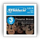 D'Addario Ej17 Phosphor Bronze Acoustic Strings - 3 Sets