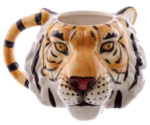 Tiger braun Tigerkopf Kaffeetasse Kaffeebecher Tasse Keramik,Tier Coffe Mug