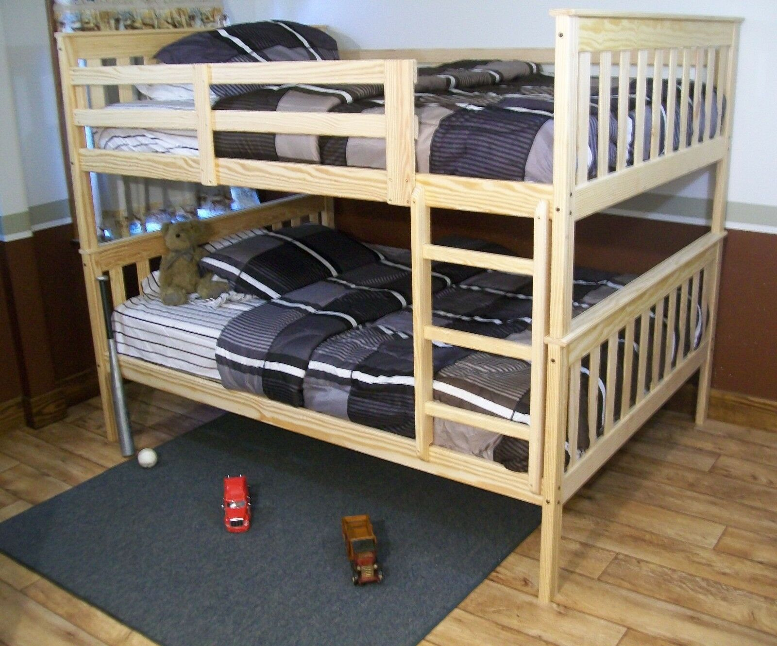 Picture of: Solid Pine Wood Twin Stackable Bunk Multi Color Beds Made In Usa Make Offers For Sale Online Ebay