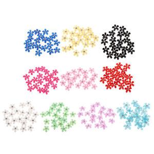 20-pcs-Blumen-Flatback-Perle-Strass-Flatback-Button-Kristall-Verzierung-Handwerk