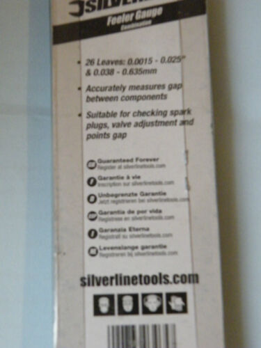 Spessimetro x 26 LAME AUTO D/'EPOCA SPARK Plug Gap Tactix o Silverline 773