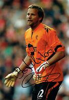 Jussi JAASKELAINEN SIGNED Autograph 12x8 Photo AFTAL COA Bolton Wanderers