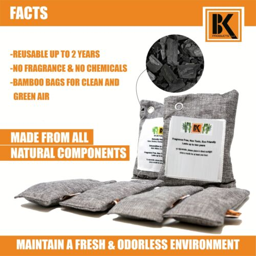 SET of 12 Naturally Activated Bamboo Charcoal Air Purifying Bag