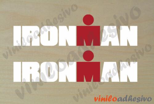 Autocollant Vinyle Ironman Blanc Multicolore Triathlon