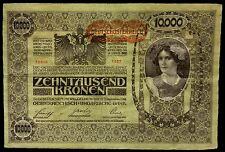 World Currency 1918 (ND 1919) Austria 10,000 Kronen