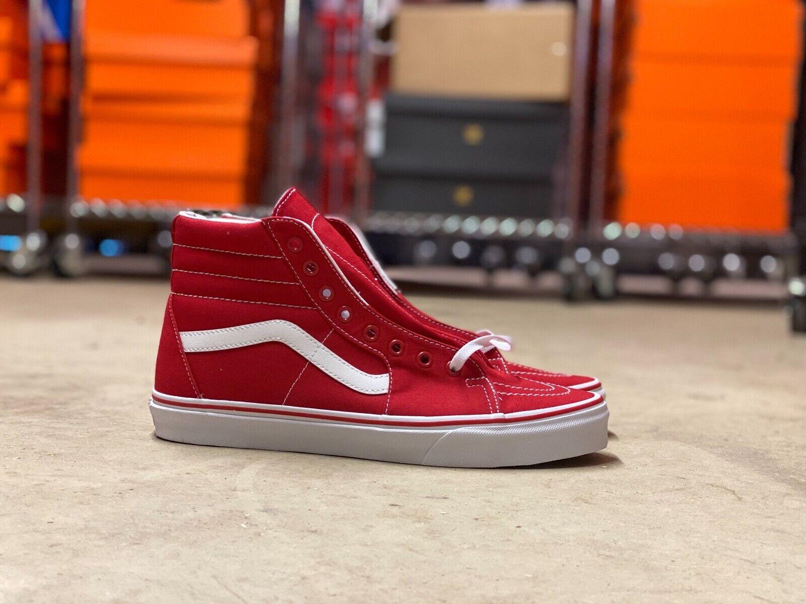 VANS Sk8-hi Skate Shoes Mono Canvas Red