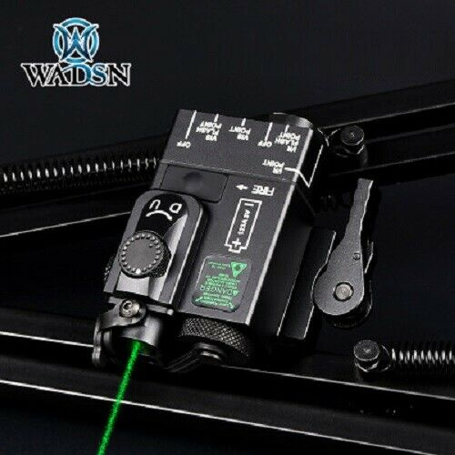 Details about  WADSN DBAI-Mini Integrated GREEN Laser / IR Pointer Aiming Device - BLACK