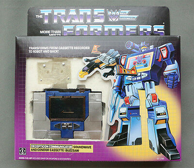 Transformers G1 Re-issue Deception Soundwave + transparent Tape Toy Figure NEW
