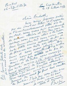 BRASSAI-Lettre-autographe-signee-1970