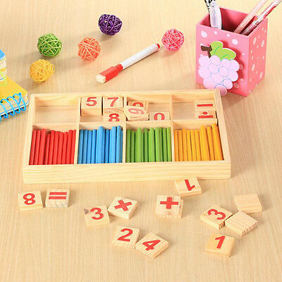 Cute Wooden Figure Stick Toys Educational Developmental Music Toy for Baby Kids