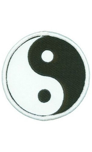 Yin and yang round Patch