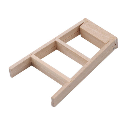1//12 Dollhouse Miniature Furniture Bedroom Foldable Wooden Ladder Fun Toy WE