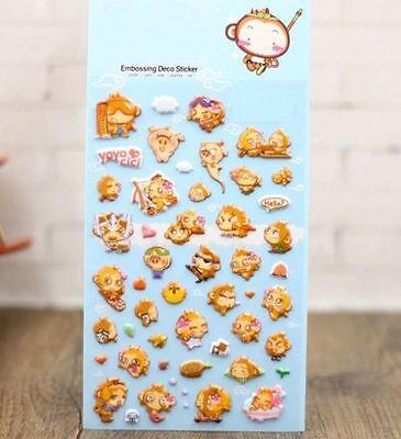 FD4505 Korea Design Monkey Baby 3D Bubble Sticker for Diary Reward Moblie Phone♫