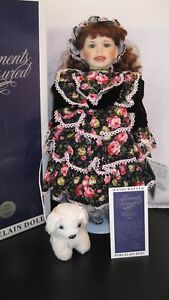 William-Tung-Moments-Treasured-Porcelain-Janelle-20-034-Doll-used-w-box