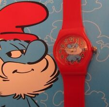 Smurf Colour Watch * Kinder Quarz Uhr *  Motiv Papa Schlumpf * Neu OVP