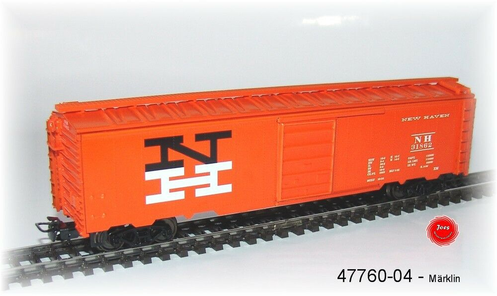 Märklin 47760-04 Ein Tin Plate Box Car  NEW HAVEN  4-achsig   NEU in OVP