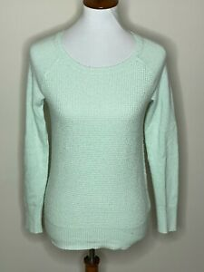 J-Crew-Mint-Green-XS-Long-Sleeve-Wool-Thermal-Women-039-s-Sweater