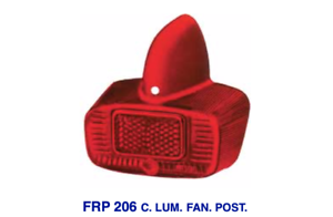 Stable Frp 206 Vetrino Rosso Per Fanale Posteriore Piaggio Vespa 150 1959 - 1965