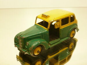 DINKY-TOYS-40H-AUSTIN-TAXI-GREEN-YELLOW-1-43-GOOD-CONDITION