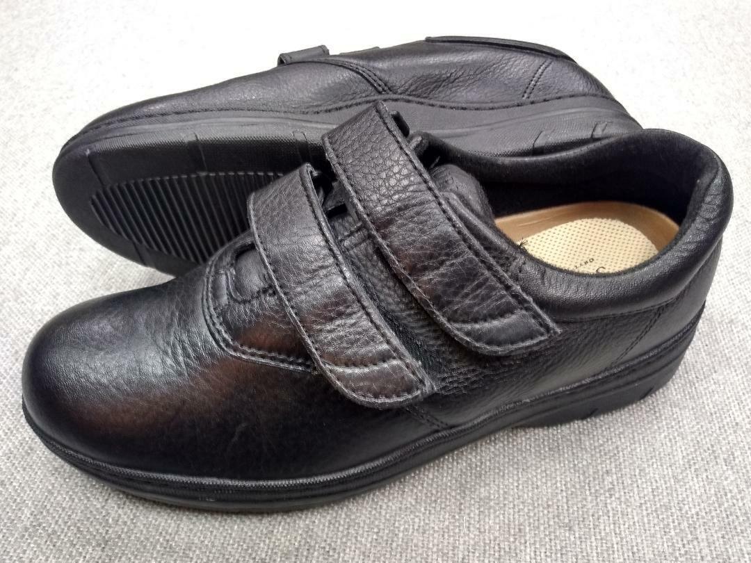 Manchas de hombre Suave (Tamaño 8 M Supremes Doble Doble Doble Correa Slip-on Zapato (Negro a1a701