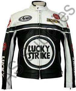 Blouson moto cuir femme lucky strike