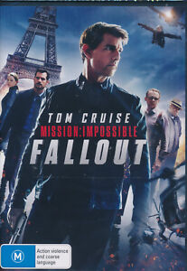 Mission Impossible Fallout DVD NEW Tom Cruise Regioin 4
