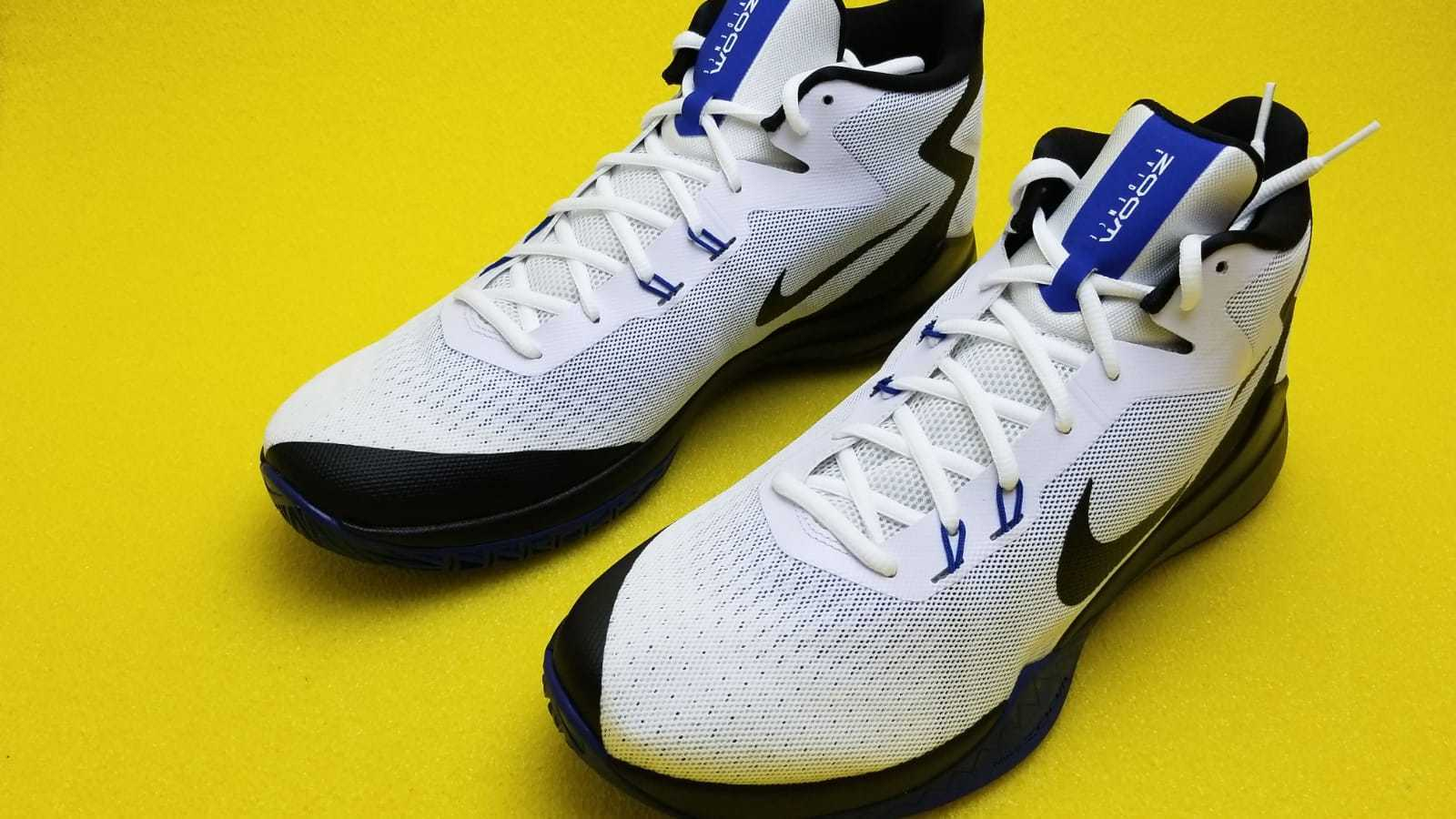 NIKE ZOOM EVIDENCE MEN BASKETBALL SHOES 852464 104 DS  WHITE blueE