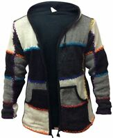 Mens Colourful Stitched Warm Hippy Jacket Great Festival Gypsy Boho Jumpers