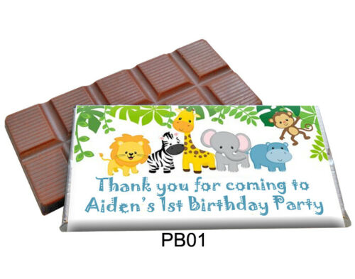 25 PERSONALISED CHOCOLATE BAR FAVOURS FOR CHILDRENS PARTIES NEW
