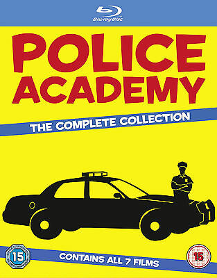 POLICE ACADEMY COMPLETE COLLECTION REGION-FREE BLU-RAY 7-DISC BOX SET BRAND NEW