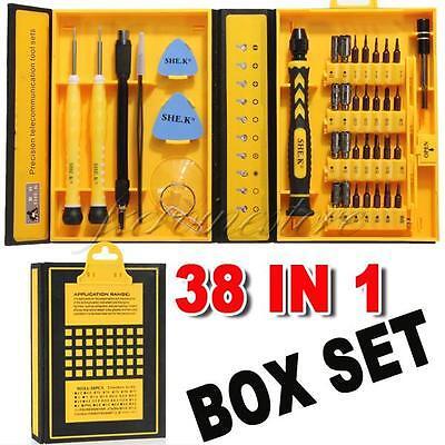 38 in 1 Screwdriver Repair Tool Kit Set For Apple iPhone 4 5 6 Samsung Mac Wii