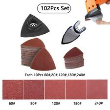 102pcs Oscillating Multi Tool Sanding Pads Accessories Kits Fit Bosch Chicago