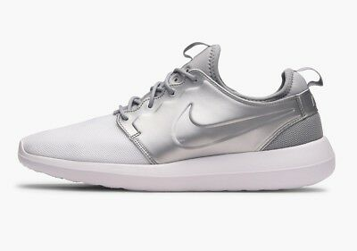 Sneaker Uk 9 Men's Nike Roshe Two White Metallic Silver Trainers Eu 44 Us 10 844656-100 Herrenschuhe