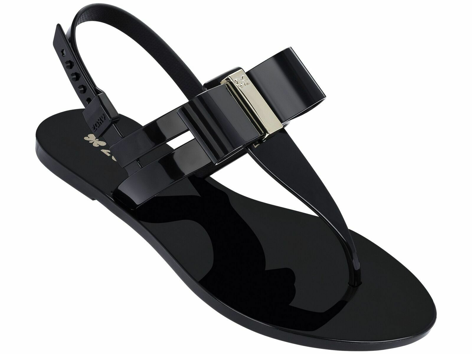 Zaxy Glaze Sandal Bow Black A NEW SS18 Size 6 Other Sizes/Colours Available