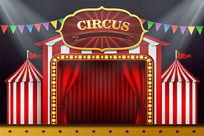 Lb Circus Stage Curtain Decor Photography Backdrop Vinyl